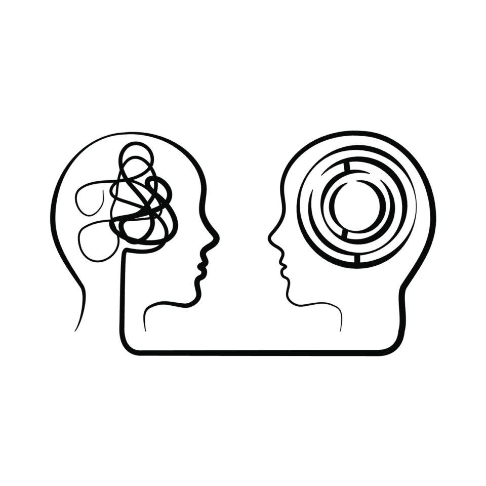 Psyche Gehirn Kopf Vektor 632231735